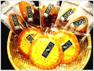 ねぎ味噌煎餅・納豆チーズ煎